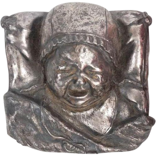 """Crying Baby"" Silverplate Paperweight"