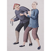 Chinese School, Early 19th Century, Gouache on Paper - Punishment (2).
