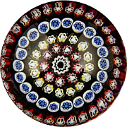 Exquisite Baccarat Millefiori Art Glass Paperweight, Signed