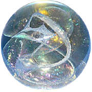 Signed and Dated Art Glass Paperweight by R. W. Stephan, 1984.