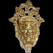 Devil's Head Cast Bronze Match Safe, c. 1900