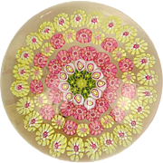Baccarat Concentric Millefiori Paperweight, Signed