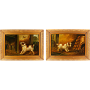 Pair Of Original Oil Paintings Of Terriers