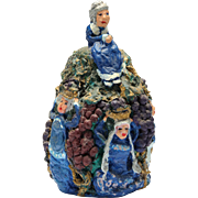 """Granny Grump Of The Vineyard"" - Signed Folk Art Sculpture"