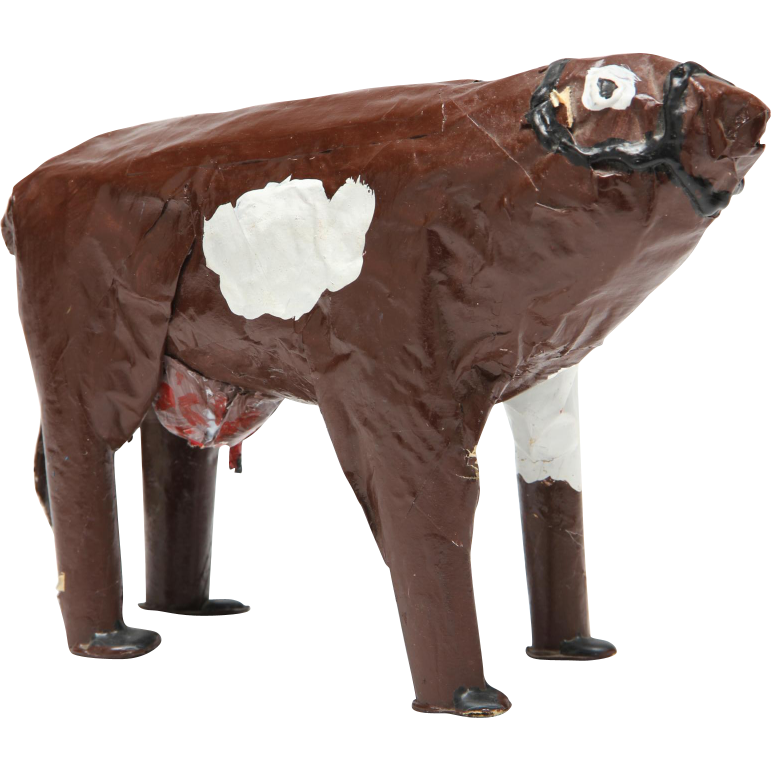 MAMA-GIRL (Mary Onley American b. 1954) - Outsider Art Cow Sculpture