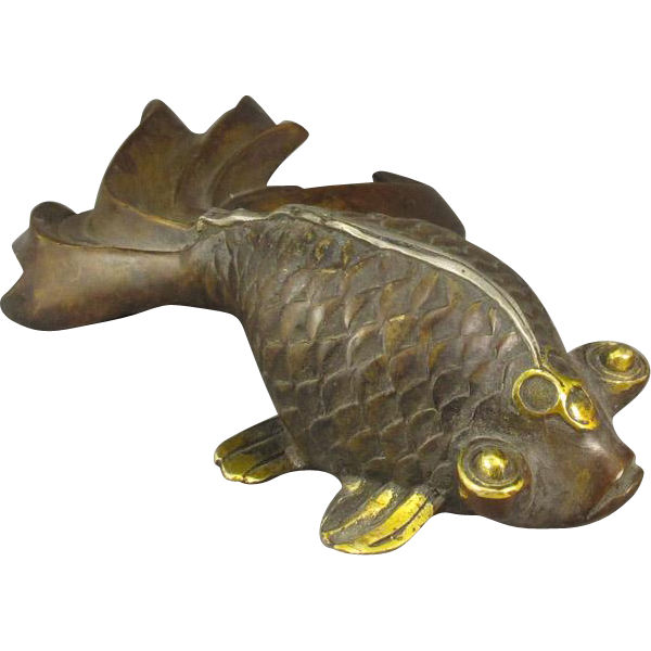Chinese Bronze Art Goldfish, Paperweight/Sculpture