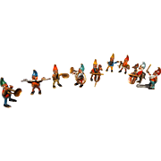Bergmann Complete TEN Piece Vienna Bronze Miniature Gnome Orchestra, Signed