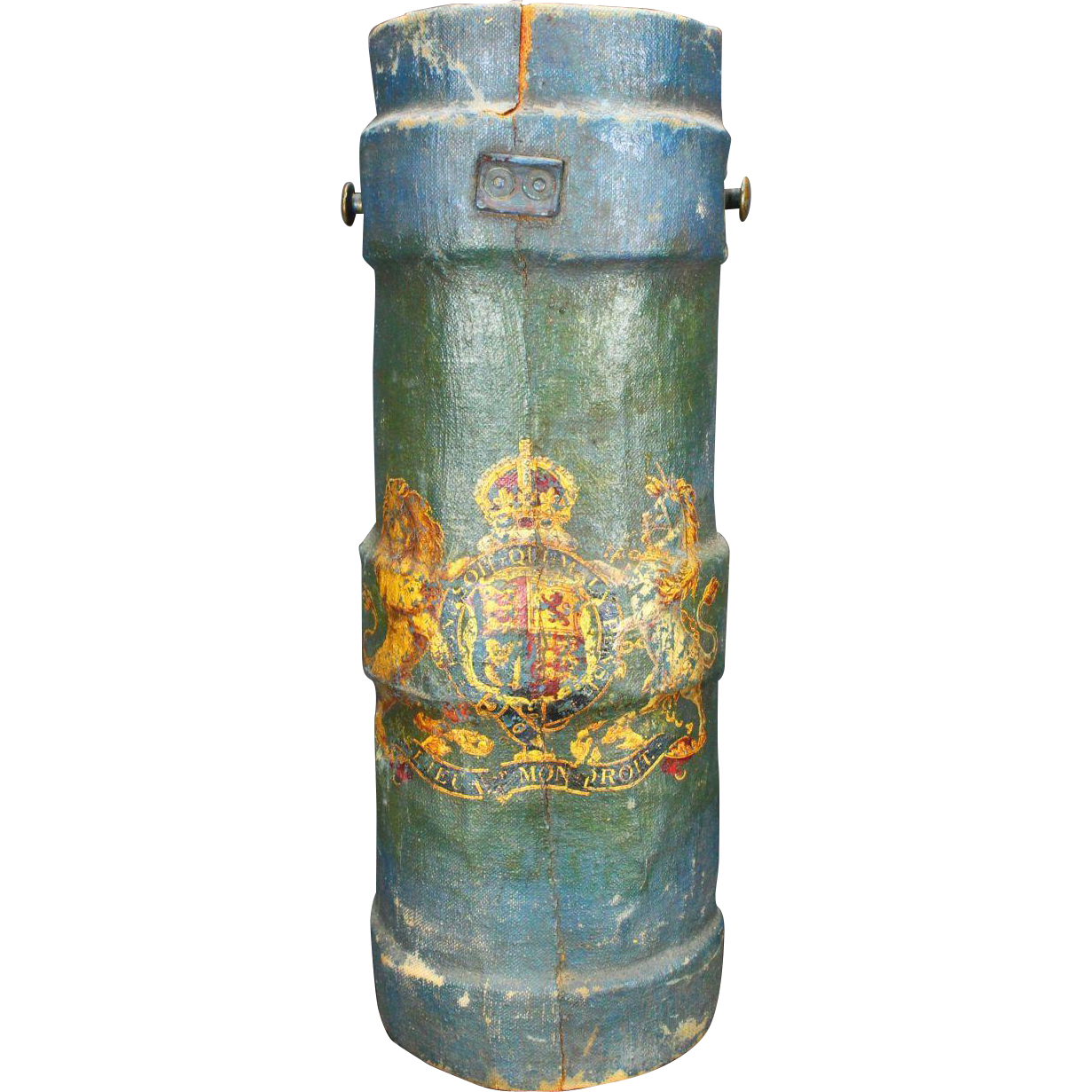 "Outstanding Historical British Royal Navy ""Powder Monkey Bucket"", C. 1800"