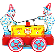 "Wyandotte ""Hoky Poky"" Hand Cart Tin Toy"