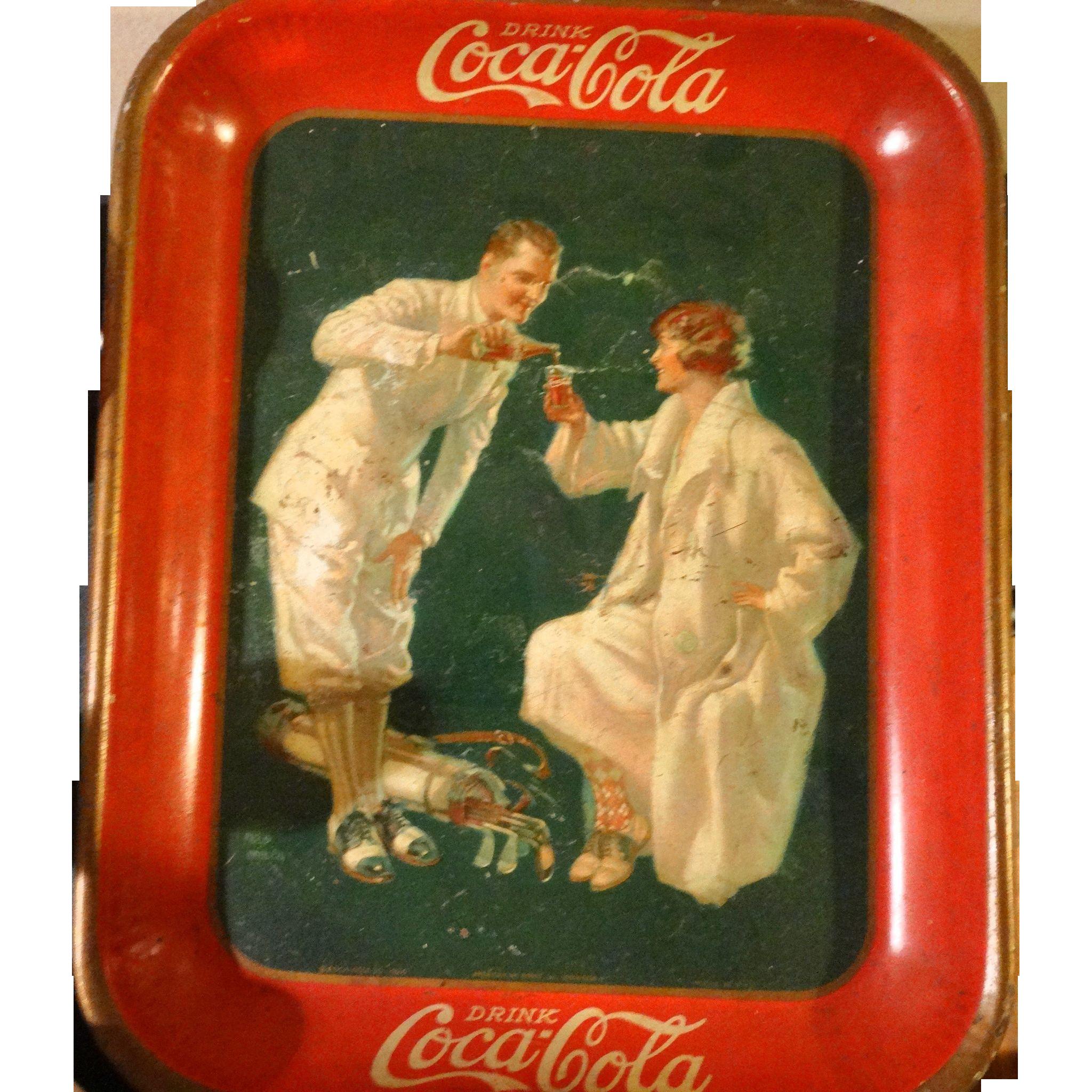 1926 Coca-Cola Golfers Tray, Artist Fred Mizen