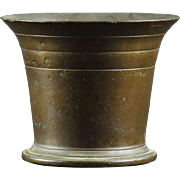 Antique Hand Hammered Bronze Mortar