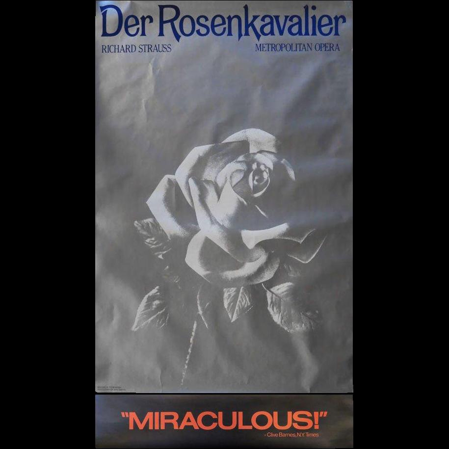 "Metropolitan Opera Poster ""Der Rosen Kavalier"" by Richard Strauss"
