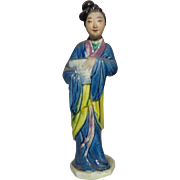 Standing Chinese Mudwoman Carrying An Unknown Object
