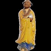Standing Buddhist Monk Mudman Holding a Teapot (Symbol of Hospitality)