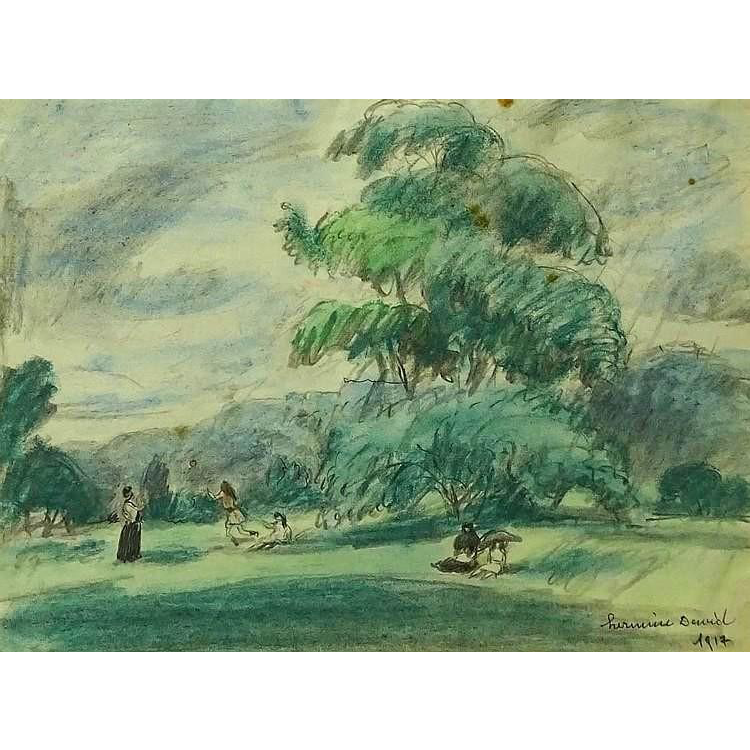 "Well-Listed Artist HERMINE DAVID, (French 1886 - 1971)  Original Signed ""Country Landscape"""