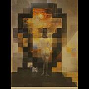 SALVADOR DALI (Spanish 1904 - 1989) - Gala Nude/Abraham Lincoln Face - Fascinating Print.