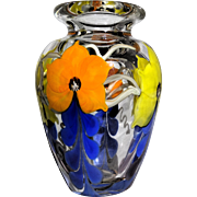 "Steven Lundberg/Justin Lundberg - ""One of One"" Exquisite Original Art Glass Vase -"