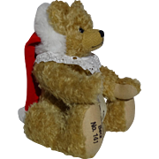 Limited Edition Hermann Mohair Christmas Bear, Signed and Numbered