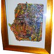 """ALEXANDER GORE (Russian 20th Century) Original Signed Oil On Linen - """"Then And Now The Firmness Of Plant As A Face"""""""