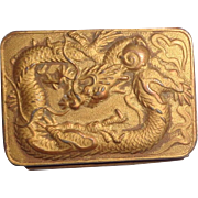 "Unusual Snuff or Patch Box With Dragons, Animals and Symbols, Signed ""Murray's"""