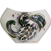 Sascha Brastoff Signed Peacock Vase