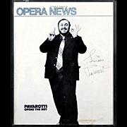"PAVAROTTI - Signed Cover Of Opera News ""Pavarotti Opens The Met"" October, 1976"