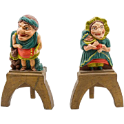 Punch and Judy Andirons
