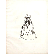 Jean-Louis Forain (French, 1852-1931) Original Signed Drawing