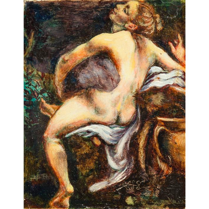 "LILLIAN HEARD (American, 20th Century) - ""Io"" (after Corregio) C. 1990"