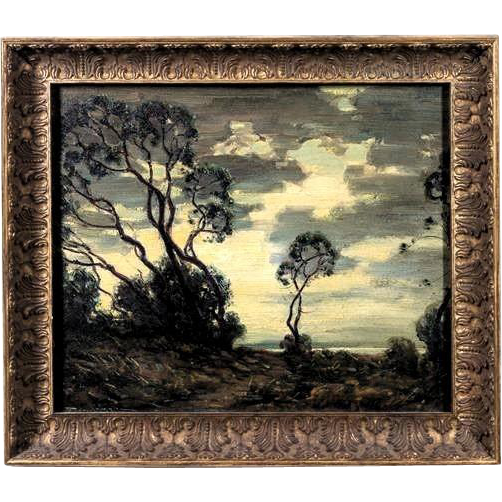 Original Signed Antique Landscape Oil Painting