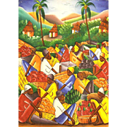 NENEL (Haitian. 20th Century) - Original Signed Oil On Canvas By Noted Haitian Artist
