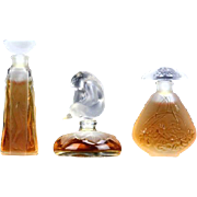 "Lalique ""Les Introuvables Ultimate Collection"" - Limited Editions of THREE Miniature Perfumes - 1993, 1994, and 1995."