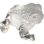 "LALIQUE Paris, France - ""Gregoire"" Fine Crystal Frog"