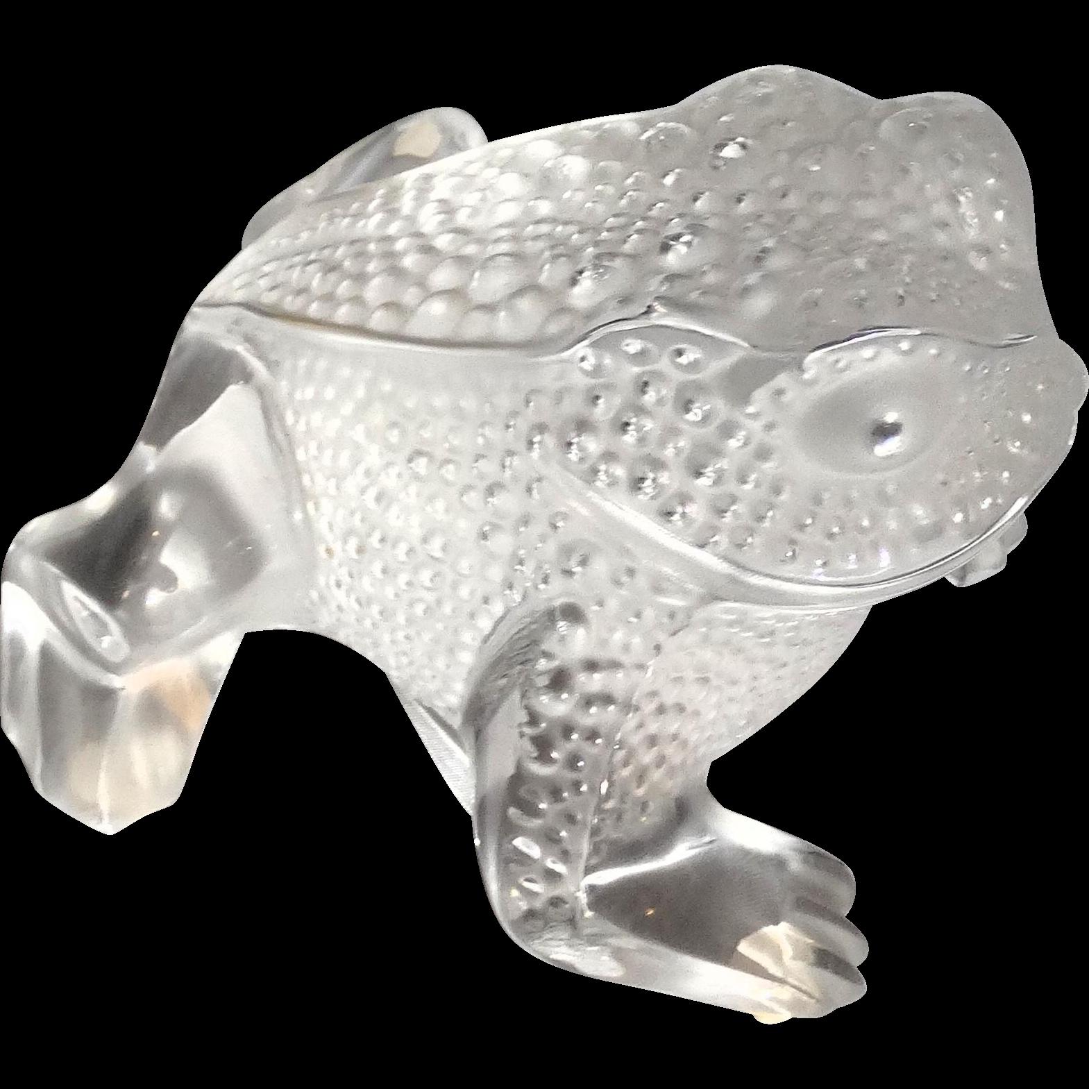 Lalique Paris France Gregoire Fine Crystal Frog From