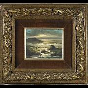 RICK GONZALEZ, (Filipino, b. 1929) Original Signed Oil On Canvas Seascape