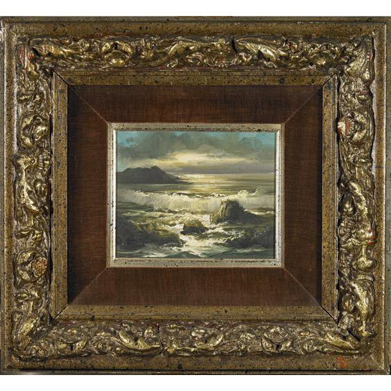 RICK GONZALEZ, (Filipino, b. 1929) Original Signed Oil On Canvas Seascape