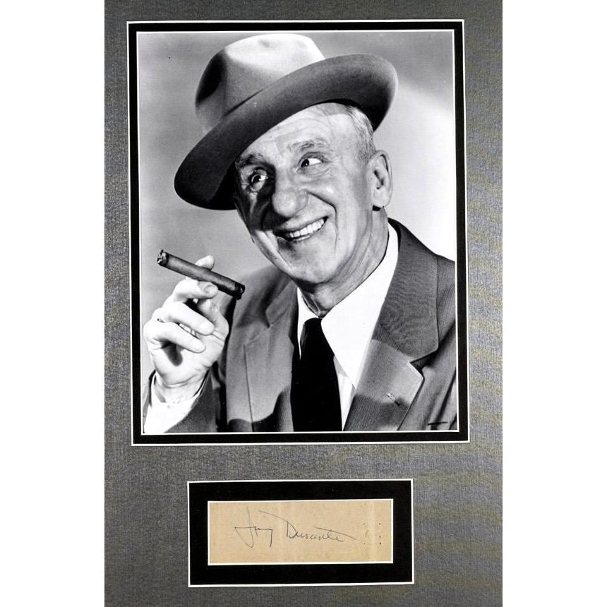 """Jimmy"" Durante (February 10, 1893 – January 29, 1980) -  Framed Photograph and Autograph"