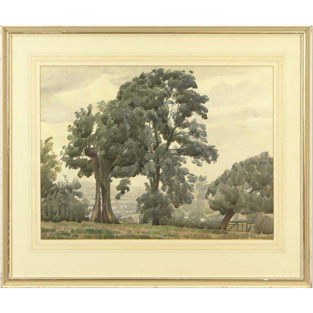 James Walker Tucker, British (1898-1972) Signed Original Watercolor on Paper