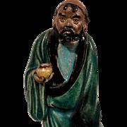"VERY RARE Chinese Mudman ""The Iron Crutch Li"" - Immortal Who Returned As A Beggar"