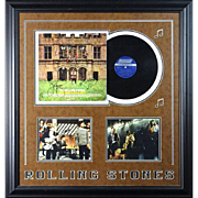 "ROLLING STONES - Framed Memorabilia Including SIGNED ""Hot Rocks"" Album (With  Verification), Photos"