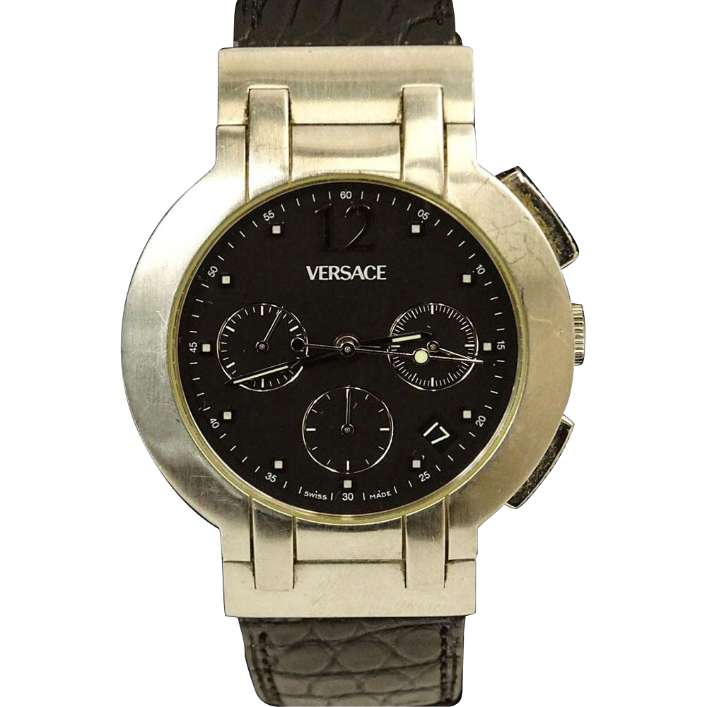 VERSACE Men's Vintage Stainless Steel Chronograph Automatic Movement