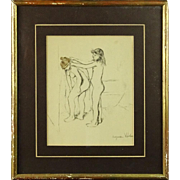 "SUZANNE VALADON (French 1865 - 1938) ""Le Bain"" - Signed Hand-Colored Lithograph"
