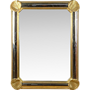 Exquisite Gilt Mirror With Clam Shell Decoration