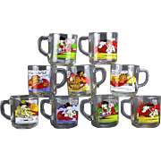 Nine (9) 1978 Garfield Collector's Mugs.