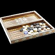 Persian Inlaid Backgammon Game Set