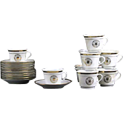 USS Sequoia Presidential Yacht Demitasse Cups and Saucer Set (Ten Cups and 10 Saucers)