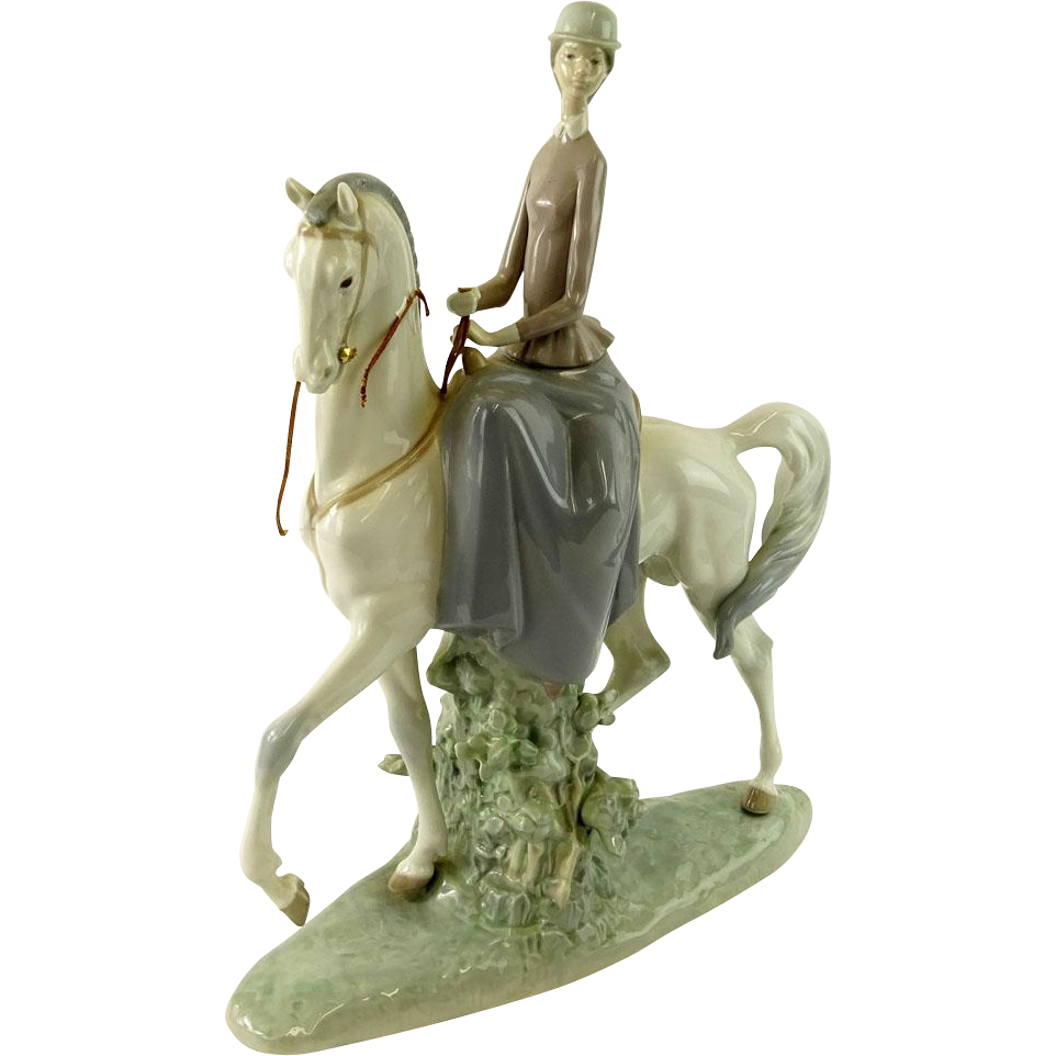 "LLADRO  Signed ""Woman On A Horse"" Ref. 4516,"