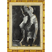 "ALEX ALESSANDRO (20th Century) - Original Oil ""Nude"" - Signed, Dated 1973"