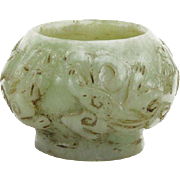 Carved Chinese Jade Brush Pot