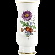 Meissen Porcelain Vase - Exquisite Flowers Hand-Painted By The Premier German Manufacturer